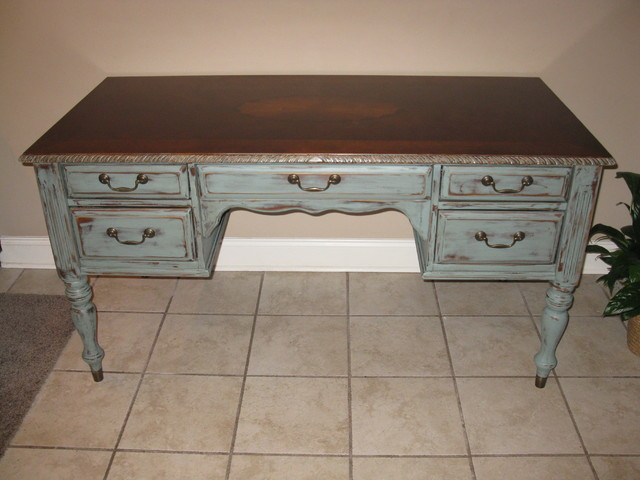Newly Distressed Antique Desk