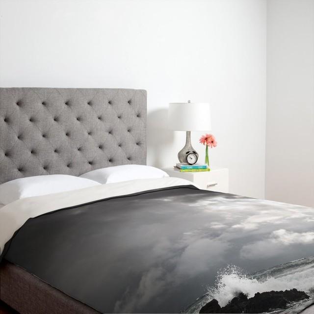 DENY Designs Bird Wanna Whistle Black & White Photography Duvet Cover - 12643-DU modern-bedding
