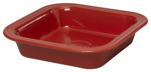 Fiesta Scarlet Square Baker - 9 in. contemporary cookware and bakeware