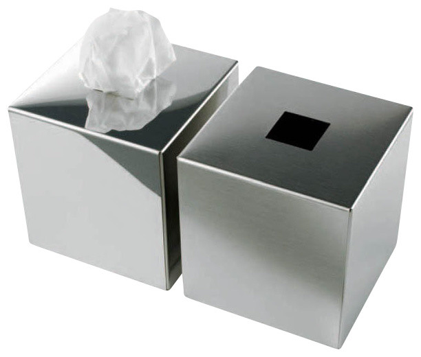 Unique bathroom rugs - Harmony 510 Tissue Box In Mat Stainless Steel