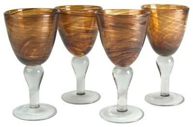 Artland 12 oz. Shimmer Goblet -Amber - Set of 4 modern-wine-and-bar-tools
