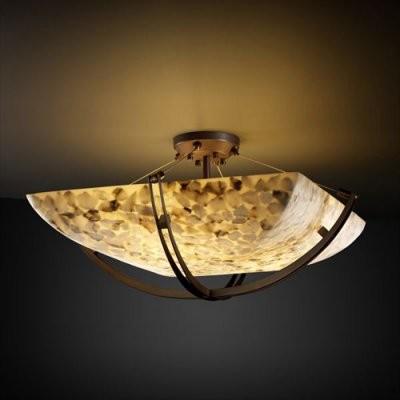 Justice Design Group Alabaster Rocks ALR-9714-25-DBRZ 36 in. Semi-Flush Bowl wit modern-ceiling-lighting