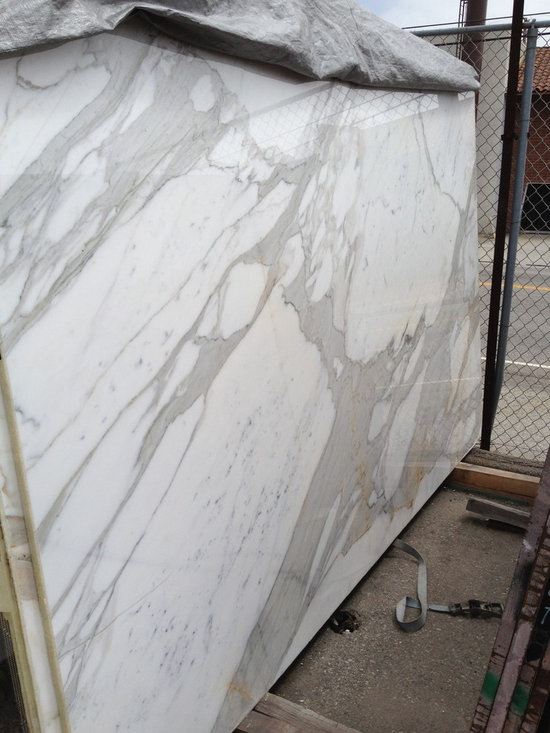 Calcatta Gold Marble Slab at Royal Stone & Tile