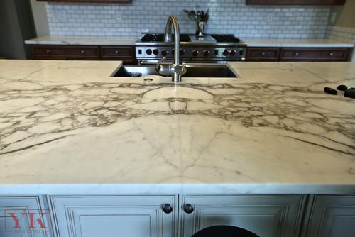 Bella View Calacatta Gold Marble Countertop