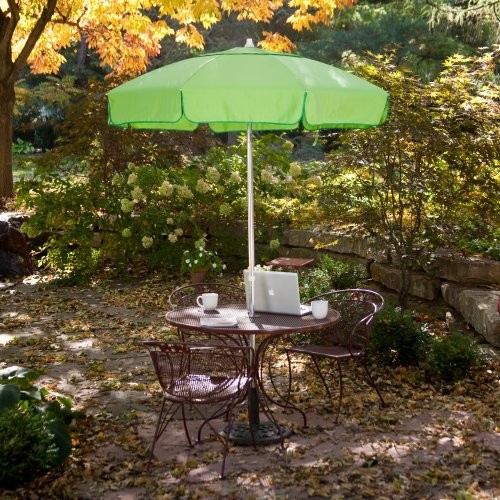 Classic 6 ft bistro umbrella contemporary outdoor for Patio table umbrella 6 foot