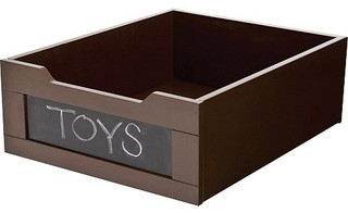 Underbed Storage, Mahogany by HOMZ - Transitional - Storage Bins And Boxes - by The Organizing Store