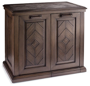 Marsala Outdoor Waste Bin and Storage Cabinet - Traditional - Outdoor Trash Cans