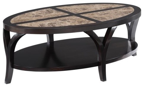 Magnussen Vitelli Wood Oval Cocktail Table contemporary coffee tables