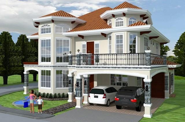 exterior design mediterranean-rendering