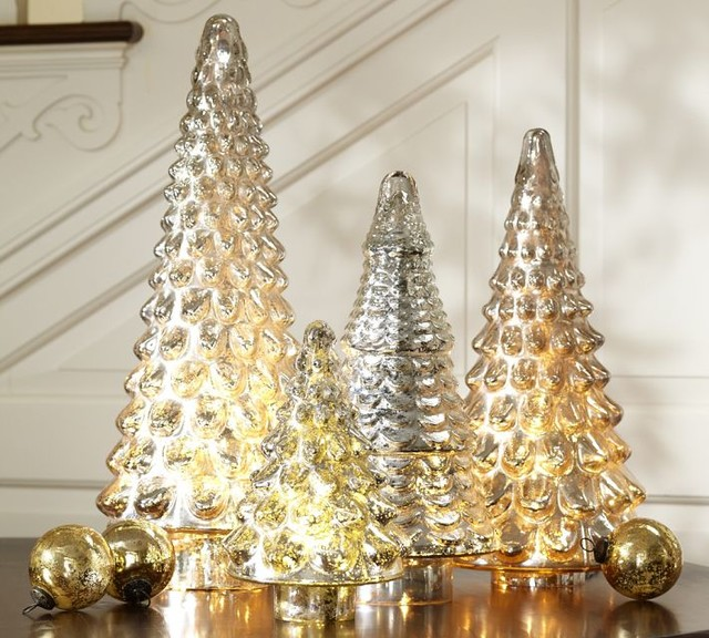 Silver Mercury Glass Tree