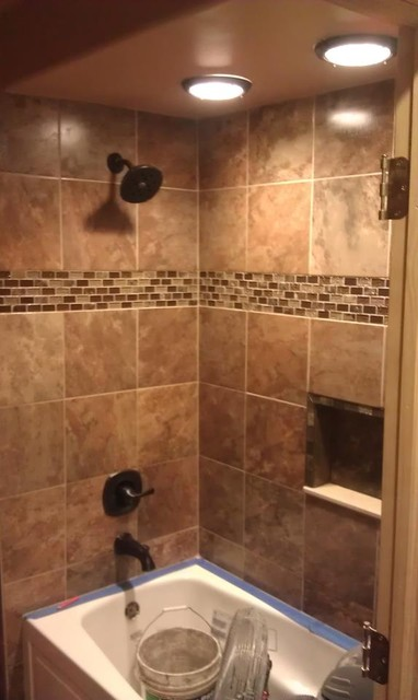 Custom tile designs by gpb for Modern bathroom tile designs
