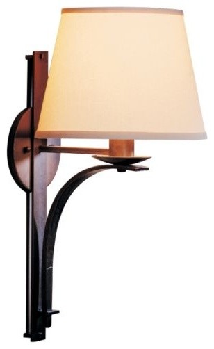 Tapered Pierced Wall Sconce With Shade - contemporary - wall ...