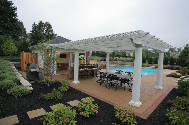 Pool House Pergula traditional-pool