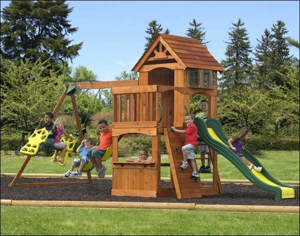 cedar atlantic playset contemporary kids playsets and swing sets