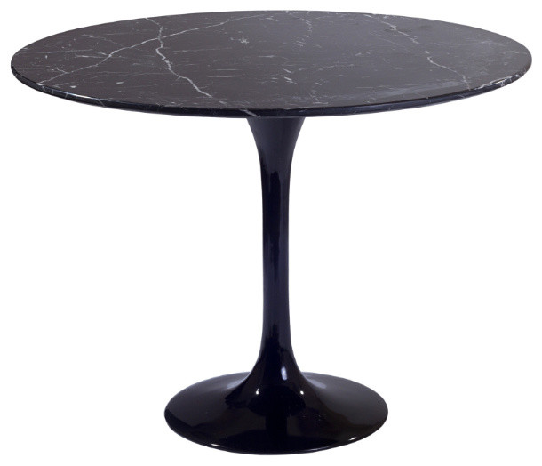 Black Marble Side Table modern