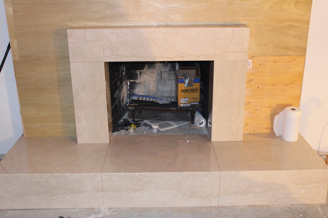 Marble Fireplace Installation fireplaces