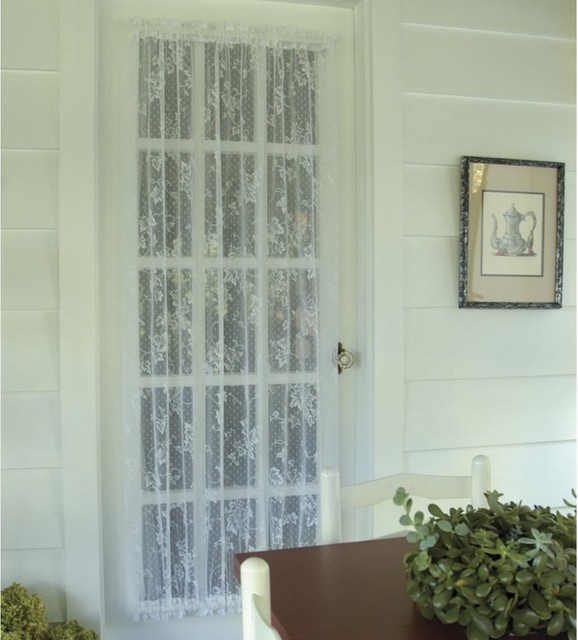 ... Lace English Ivy Door Curtain Panel - Modern - Curtains - by Hayneedle