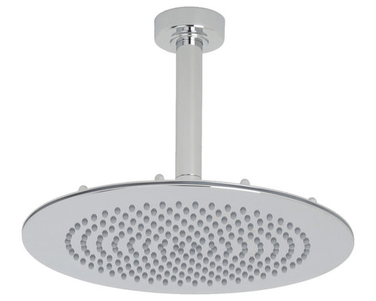 Hudson Reed - Round Showerhead Bathroom Fixed Overhead Shower & Ceiling Mounted Arm - This 12 shower head complete with round ceiling mounted arm from Hudson Reed is perfect for adding a touch of designer style to any bathroom. Featuring a chrome finish and easy to clean nozzles, this high quality shower head will transform your daily shower routine into pure luxury. Hudson Reed 12 Round Shower Head with Ceiling Arm Details   IAPMO Approved 1/2 NPT inlets Chrome finish Easy clean nozzles 9.5L/min 2.5gpm regulator installed Supplied with 6 round ceiling mounted arm       UFG-HRSH703    12 Round Shower Head         UFG-HRAM704    6 Ceiling Shower Arm