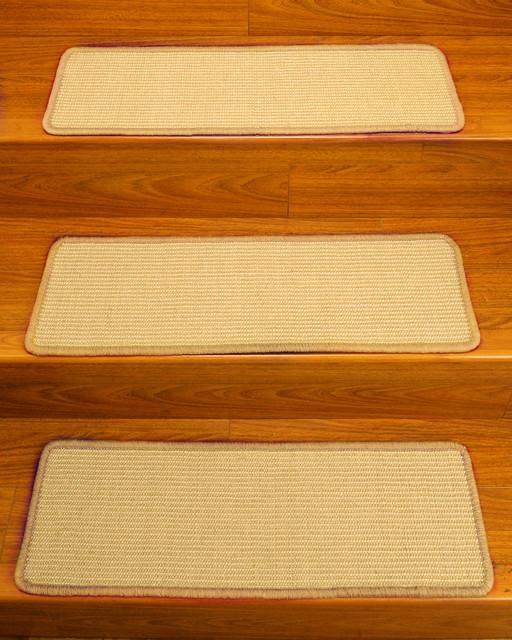 Eden Sisal Carpet Stair Tread (Set of 13) contemporary-rugs