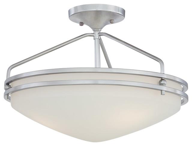 Quoizel Lighting Ozark 3 Light Semi Flush Mount In Polished Chrome OZ1716C