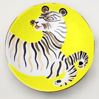 Waylande Gregory Small Tiger Yellow Bullet Bowl eclectic-serving-utensils