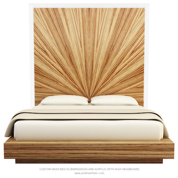 zebra wood bedroom furniture nash tall bed by jonathan