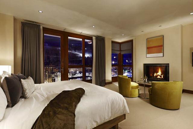 Bedroom at Solaris contemporary-bedroom
