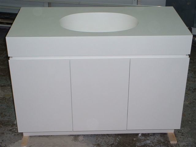 All Corian(Solid Surface ) Cabinets modern-bathroom-vanities-and-sink ...