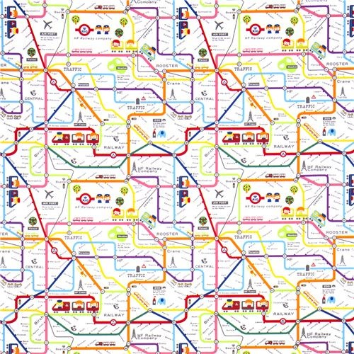 cute subway map children fabric by Kokka Japan  kids decor
