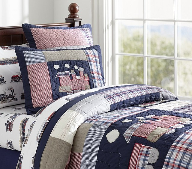 Train Themed Bedroom: Toby Quilted Bedding