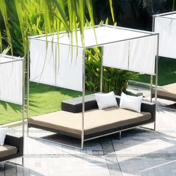 Outdoor daybed with canopy outdoor chaise lounges Outdoor daybed with canopy