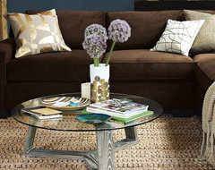 Ion Glass Round Coffee Table modern-coffee-tables