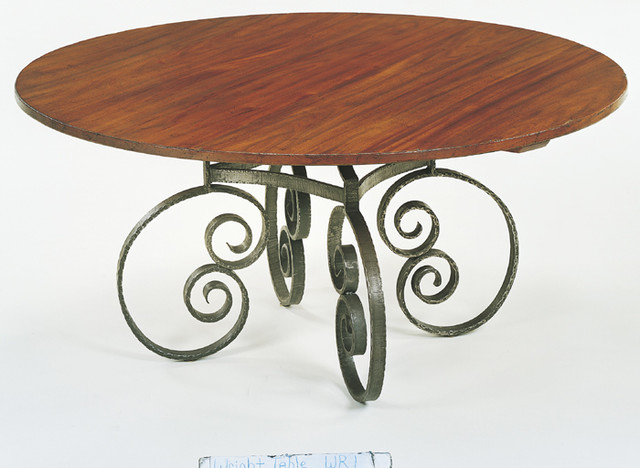 No 660 wr 1 custom dining table round wr 1 french scroll for Table th no scroll
