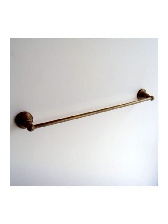 "24"" Antique Brass Bathroom Towel Bar - ●24"" Antique Brass Finish Bathroom Towel Bar FG-603"