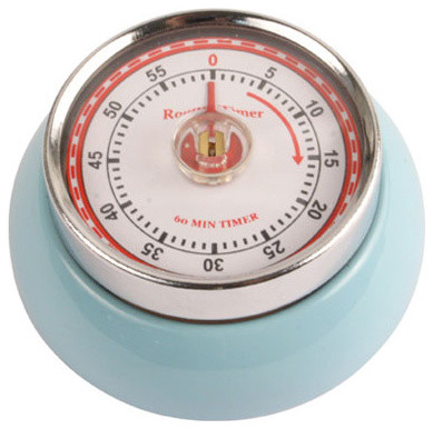 Magnetic Kitchen Timer, Light Blue traditional-timers-thermometers-and-scales