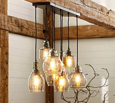 Paxton Hand Blown Glass 8 Light Pendant Traditional