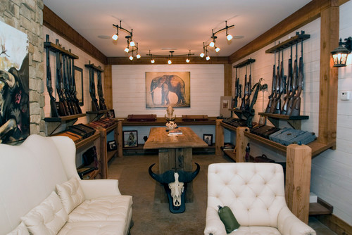 Man Cave Ideas For Outdoorsman : A man cave for the hunting sportsman