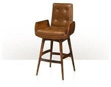 Eltham Swivel Bar Stool in Leather bar-stools-and-counter-stools