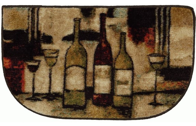 Mohawk New Wave Wine And Glasses Beige Country Kitchen 3