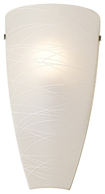 Contemporary Art Glass Wall Sconces : Possini Frosted 13 1/4