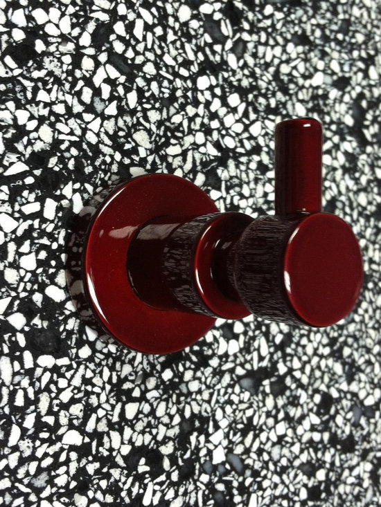 no drilling required - Bath Accessories- no drilling required! - Special order Candy Apple Red metallic finish and includes the no drilling required mounting hardware by nie wieder bohren Germany