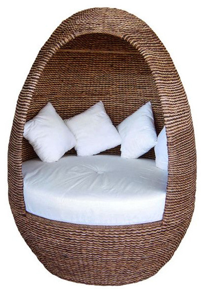 Neoteric Igloo Modern Outdoor Wicker Lounge Chair contemporary-outdoor-chairs
