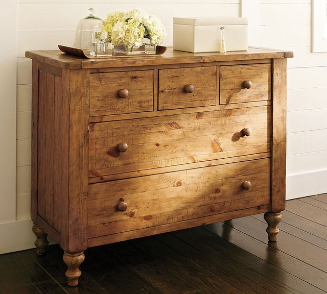 Pottery Barn Ashby Dresser In Rustic Pine