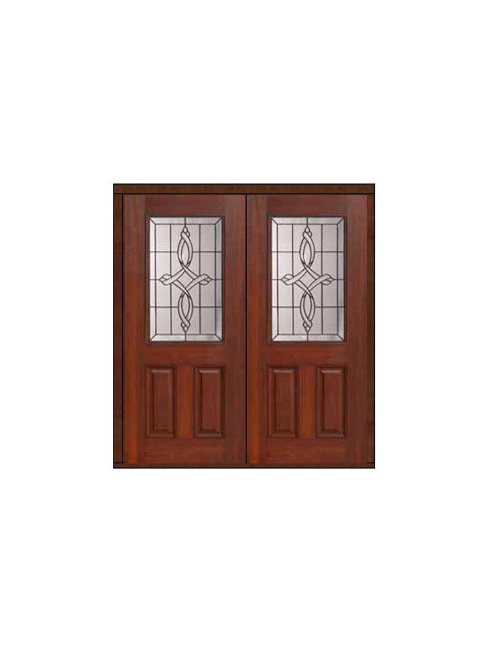 "Prehung Double Door 80 Fiberglass Marsais 2 Panel 1/2 Lite Glass - SKU#    MCT01395_DFHMS2Brand    GlassCraftDoor Type    ExteriorManufacturer Collection    1/2 Lite Entry DoorsDoor Model    MarsaisDoor Material    FiberglassWoodgrain    Veneer    Price    3050Door Size Options    2(32"")[5'-4""]  $02(36"")[6'-0""]  $0Core Type    Door Style    Door Lite Style    1/2 LiteDoor Panel Style    2 PanelHome Style Matching    Door Construction    Prehanging Options    PrehungPrehung Configuration    Double DoorDoor Thickness (Inches)    1.75Glass Thickness (Inches)    Glass Type    Double GlazedGlass Caming    BlackGlass Features    Tempered glassGlass Style    Glass Texture    Glass Obscurity    Door Features    Door Approvals    Energy Star , TCEQ , Wind-load Rated , AMD , NFRC-IG , IRC , NFRC-Safety GlassDoor Finishes    Door Accessories    Weight (lbs)    603Crating Size    25"" (w)x 108"" (l)x 52"" (h)Lead Time    Slab Doors: 7 Business DaysPrehung:14 Business DaysPrefinished, PreHung:21 Business DaysWarranty    Five (5) years limited warranty for the Fiberglass FinishThree (3) years limited warranty for MasterGrain Door Panel"
