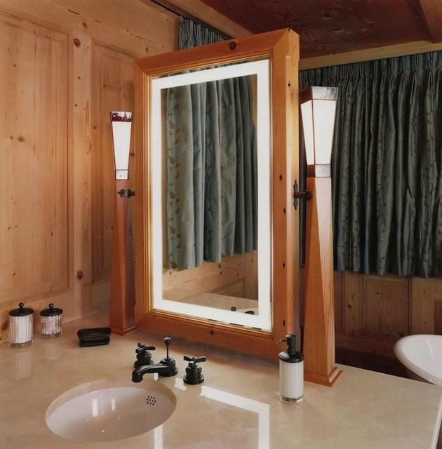 Master Bath Vanity  Rustic  boston  by Austin Design Inc