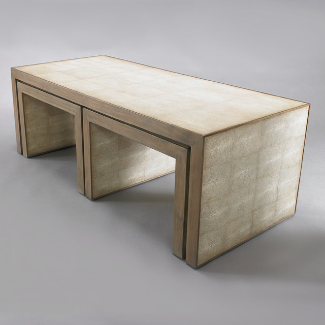 Contemporary Nesting Tables ~ Avedon nesting coffee tables modern by