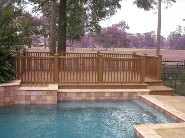 Pool and waterfront decks for Waterfront deck designs