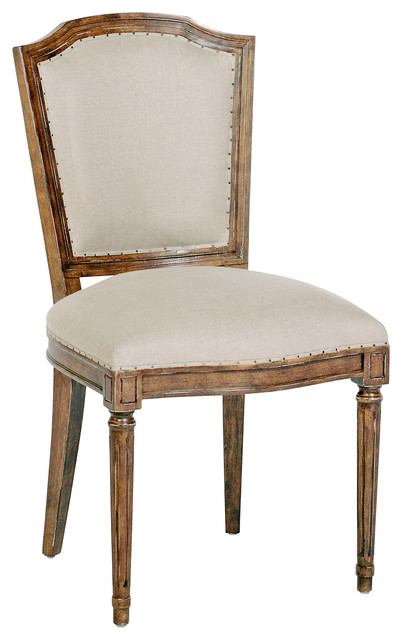 Colette Shield Back French Country Linen Brown Dining Chair- Set of 2 dining-chairs