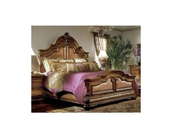 AICO Furniture - Tuscano Mansion Bed Available in 2 Sizes - 340BED - Available in Queen & King sizes
