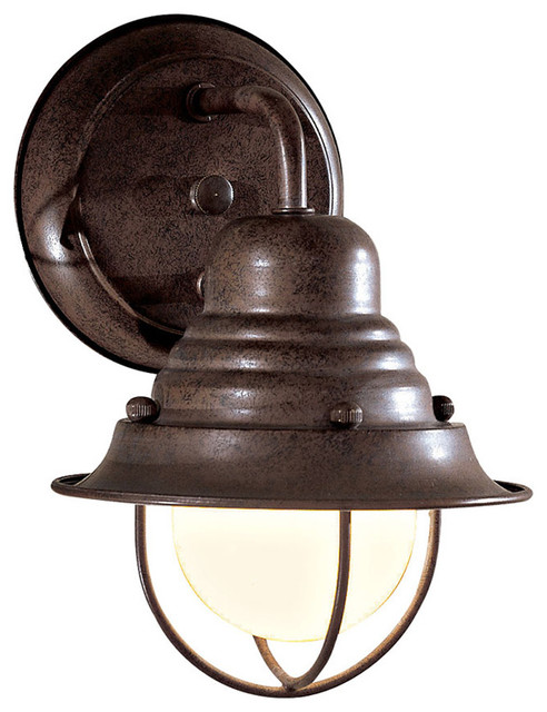 Rustic Exterior Wall Sconces : The Great Outdoors 71166-91 1 Lt Outdoor Wall Mount - Rustic - Outdoor Wall Lights And Sconces ...
